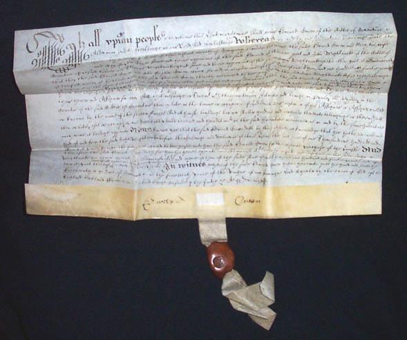 Vélin datant de 1638