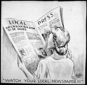 """Watch your local Newspaper!!!"" - By Charles Henry Alston, 1907-1977, Artist (NARA record: 3569253) (U.S. National Archives and Records Administration) [Public domain], via Wikimedia Commons"