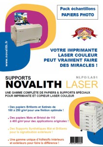 Pack Echantillons Novalith Papiers Photo Laser