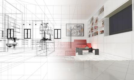 Rendu superbe appartement en 3D - dossier papier par métier : architecte