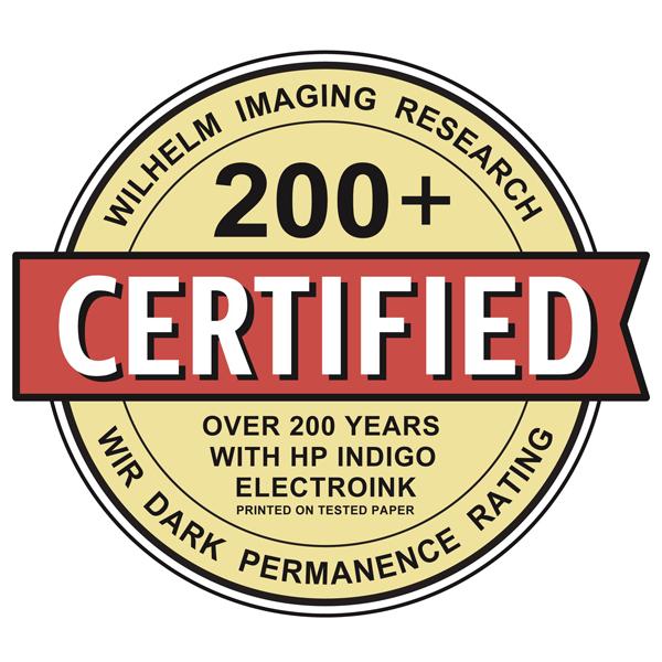 Certificat Wilhelm Imagin Research papier E-PHOTO - Wir Dark Permanence Rating
